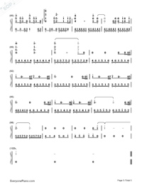 A Thousand Years-The Twilight Saga Breaking Dawn OST Numbered Musical Notation Preview 5