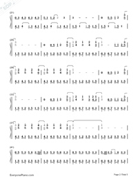 Just the Way You Are-Bruno Mars-Numbered-Musical-Notation-Preview-2