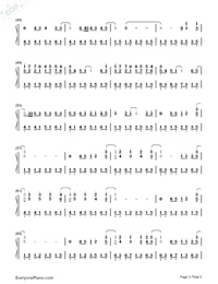 Just the Way You Are-Bruno Mars Numbered Musical Notation Preview 3