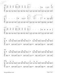 Just the Way You Are-Bruno Mars Numbered Musical Notation Preview 4