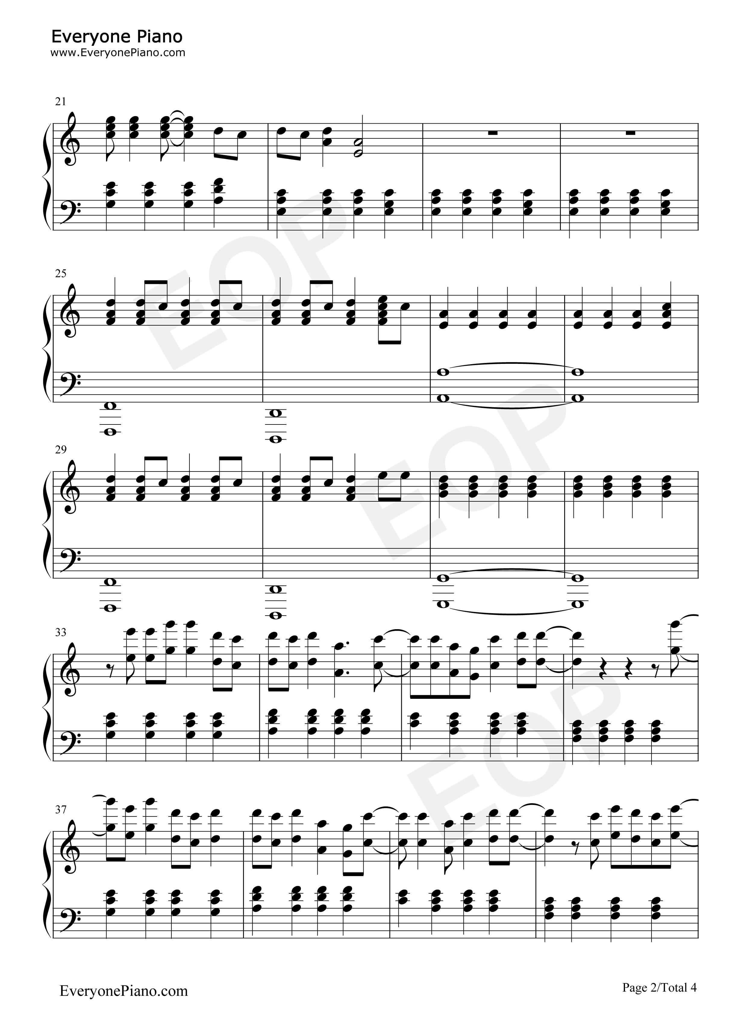 Stay-Rihanna ft. Mikky Ekko Stave Preview 2-Free Piano Sheet Music u0026 Piano Chords