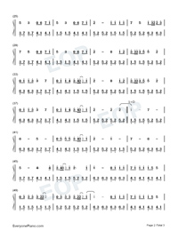 Beautiful in White-Westlife-Numbered-Musical-Notation-Preview-2