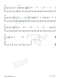 Beautiful in White-Westlife-Numbered-Musical-Notation-Preview-3