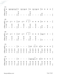 I Know Places-Taylor Swift Numbered Musical Notation Preview 2