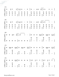 I Know Places-Taylor Swift Numbered Musical Notation Preview 3