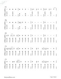I Know Places-Taylor Swift Numbered Musical Notation Preview 4