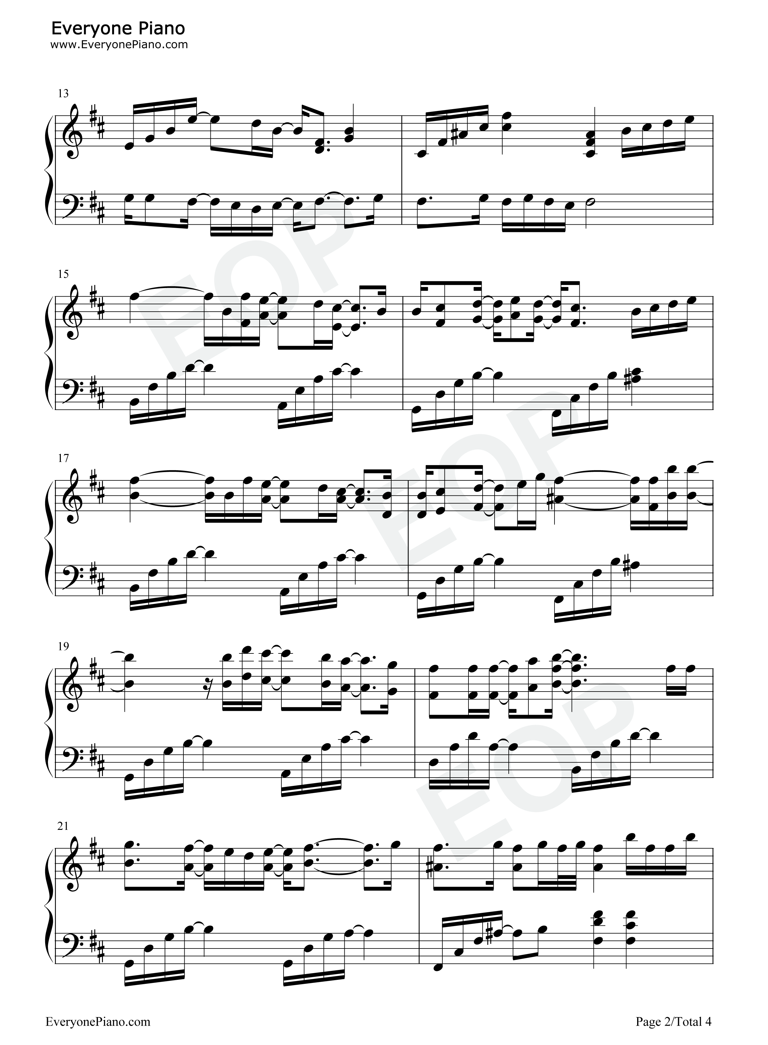 Mary Did You Know-Pentatonix Stave Preview 2-Free Piano Sheet Music u0026 Piano Chords
