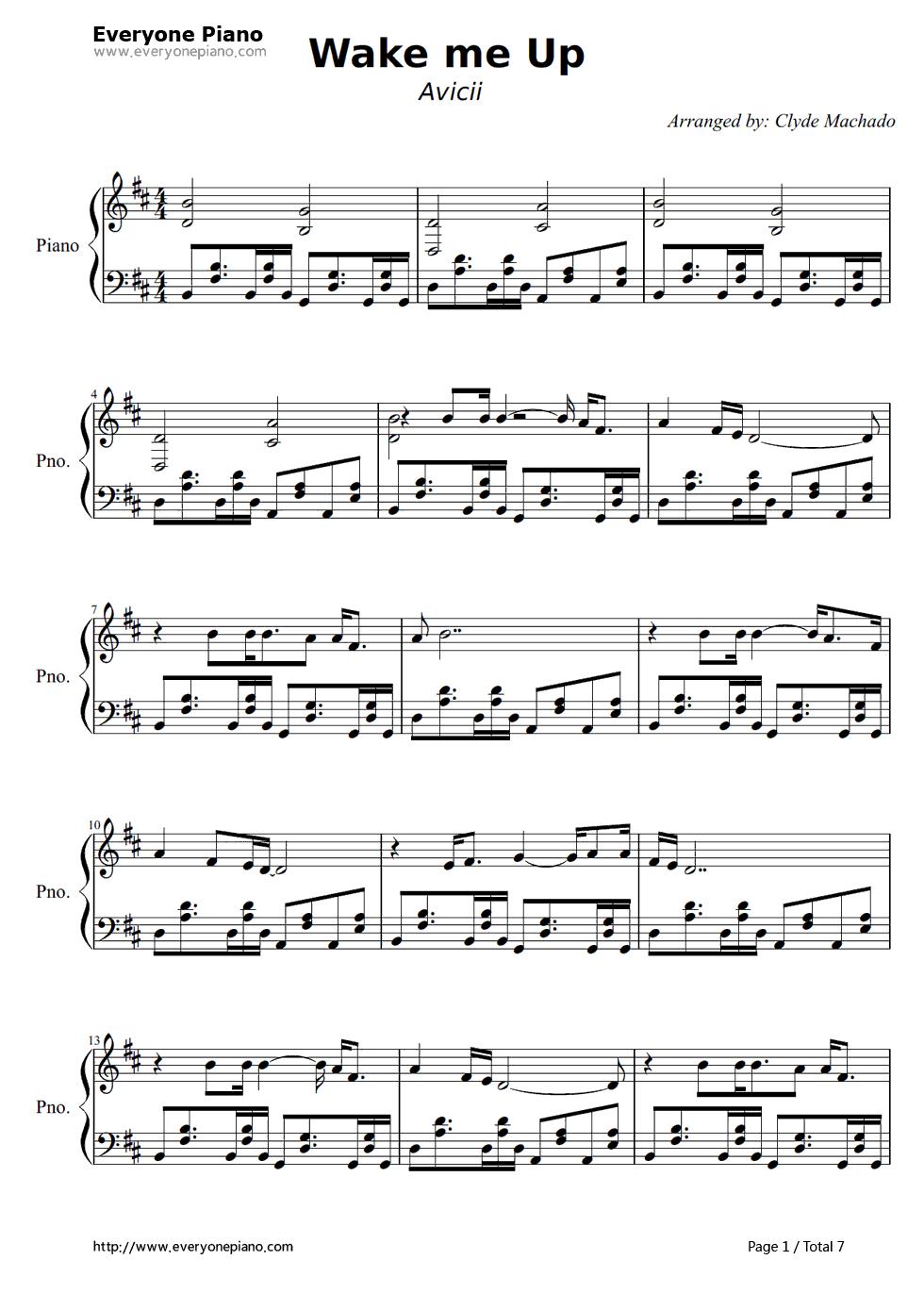 Wake me up avicii stave preview 1 free piano sheet music piano listen now print sheet wake me up avicii stave preview 1 hexwebz Gallery