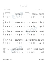 Uptown Funk-Mark Ronson and Bruno Mars-Numbered-Musical-Notation-Preview-1