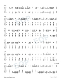 Uptown Funk-Mark Ronson and Bruno Mars-Numbered-Musical-Notation-Preview-2