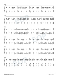 Uptown Funk-Mark Ronson and Bruno Mars-Numbered-Musical-Notation-Preview-3
