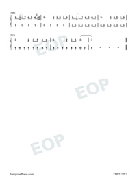 I Lived-OneRepublic-Numbered-Musical-Notation-Preview-5