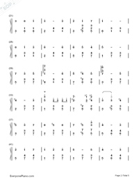 Merry-Go-Round of Life-Howl's Moving Castle Theme-Numbered-Musical-Notation-Preview-2