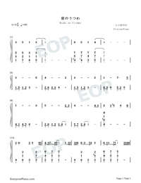 Hoshi no Utsuwa-The Last Naruto the Movie Theme-Numbered-Musical-Notation-Preview-1