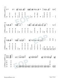 Hoshi no Utsuwa-The Last Naruto the Movie Theme-Numbered-Musical-Notation-Preview-2