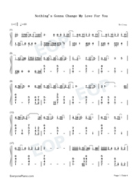 Nothing's Gonna Change My Love for You-Numbered-Musical-Notation-Preview-1