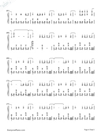 Rythm of the Rain-Rythm of the Rain Theme-Numbered-Musical-Notation-Preview-4