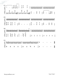 Rythm of the Rain-Rythm of the Rain Theme-Numbered-Musical-Notation-Preview-5