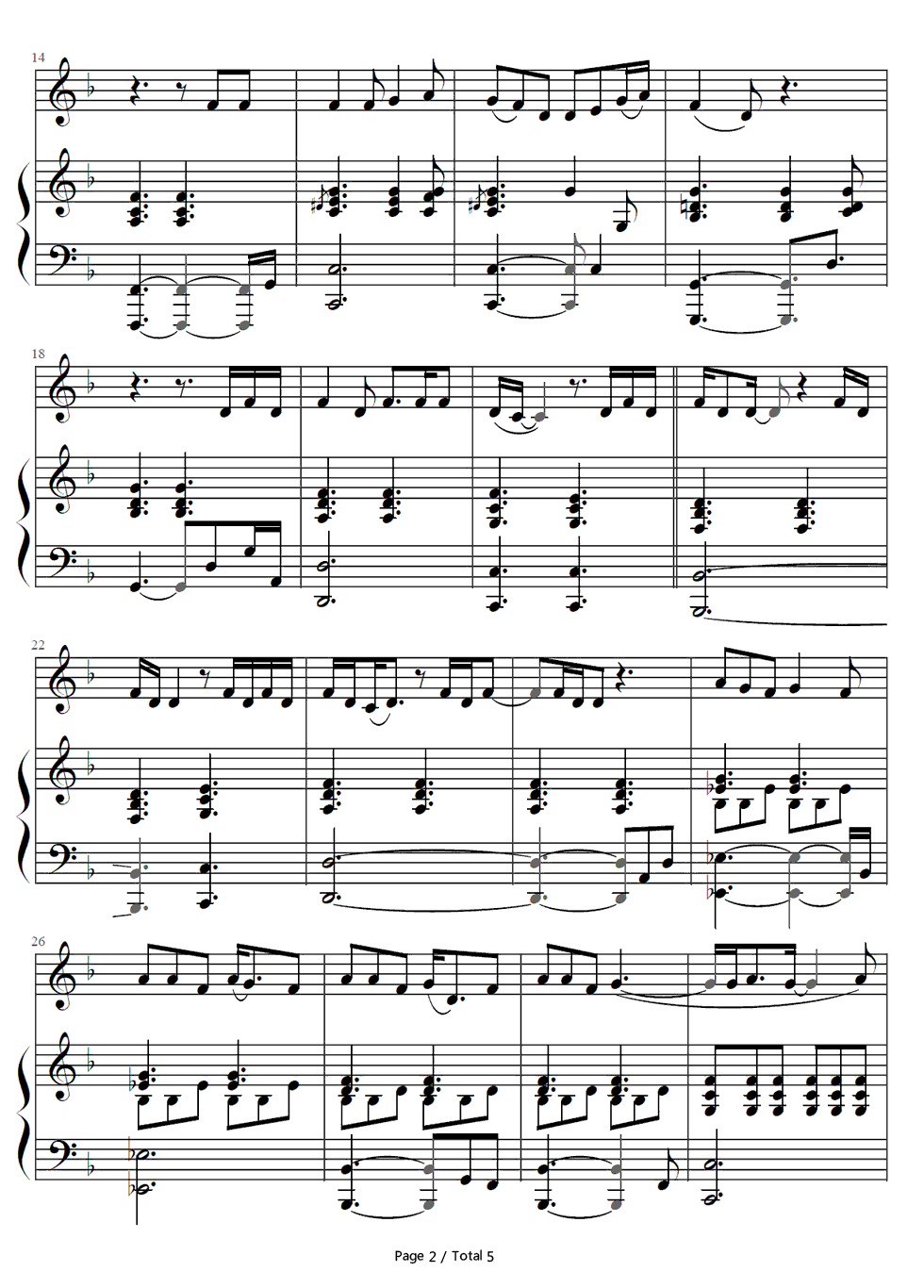 One and only adele stave preview 2 free piano sheet music piano listen now print sheet one and only adele stave preview 2 hexwebz Images
