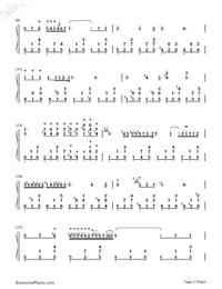 夜想曲第2番-Nocturne Op.9-2-ノクターン Op.9-2両手略譜プレビュー2