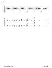 夜想曲第2番-Nocturne Op.9-2-ノクターン Op.9-2両手略譜プレビュー5