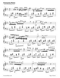 夜想曲第2番-Nocturne Op.9-2-ノクターン Op.9-2五線譜プレビュー3