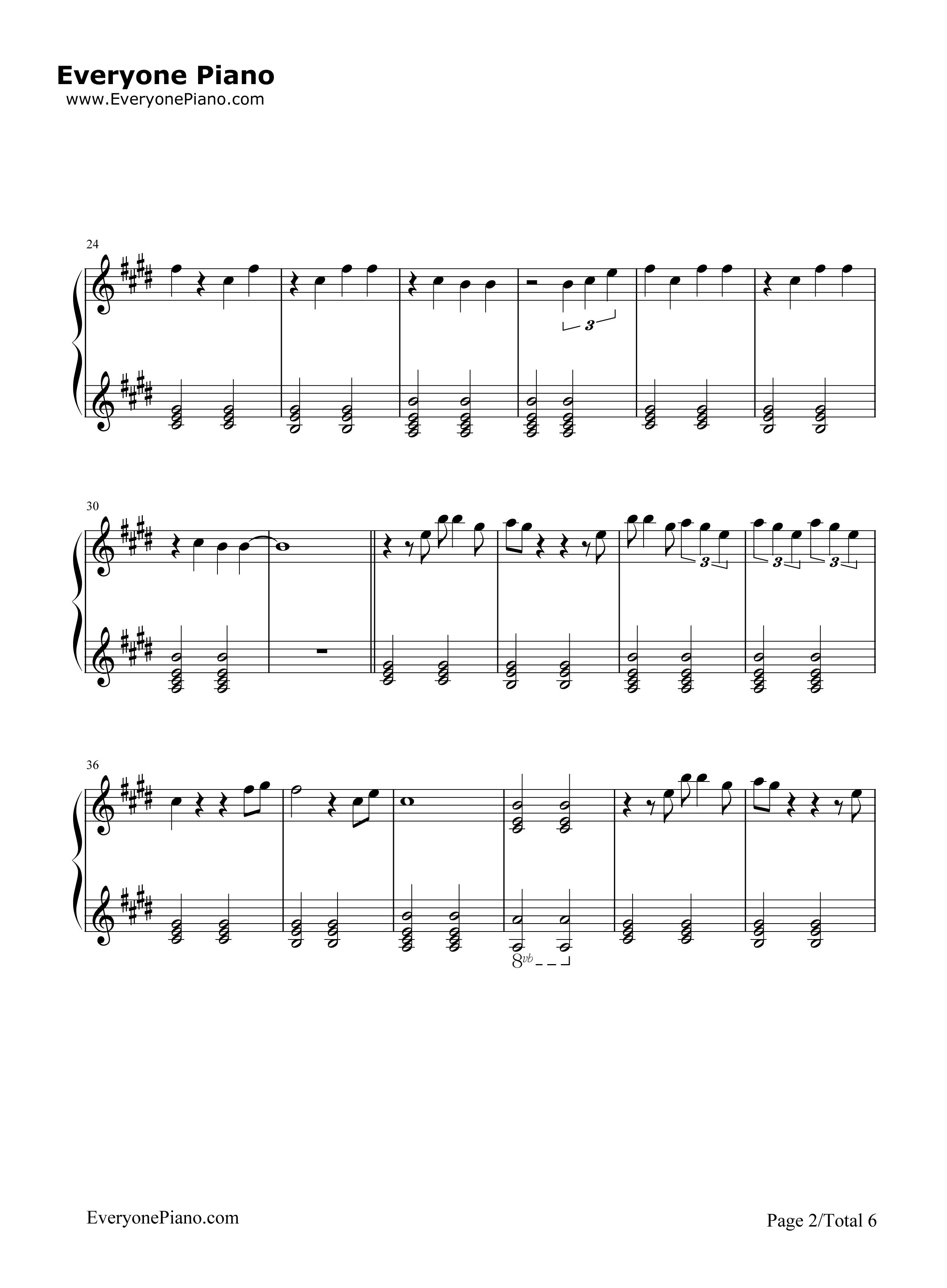 Grand piano chords piano ideas ariana grande piano sheet music in e major transposable hexwebz Gallery