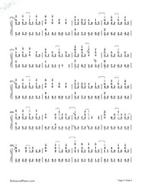 Handwritten Past-Jay Chou-Numbered-Musical-Notation-Preview-4
