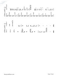 Yume Sekai-Sword Art Online ED1 Numbered Musical Notation Preview 3