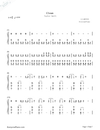 Clean-Taylor Swift-Numbered-Musical-Notation-Preview-1