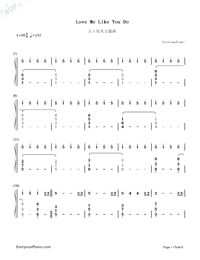 Love Me Like You Do-Fifty Shades of Grey Theme-Numbered-Musical-Notation-Preview-1