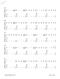 Love Me Like You Do-Fifty Shades of Grey Theme Numbered Musical Notation Preview 2