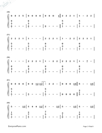 Love Me Like You Do-Fifty Shades of Grey Theme Numbered Musical Notation Preview 3