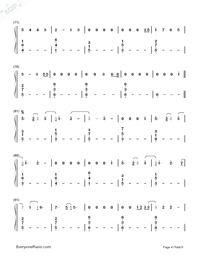 Love Me Like You Do-Fifty Shades of Grey Theme Numbered Musical Notation Preview 4