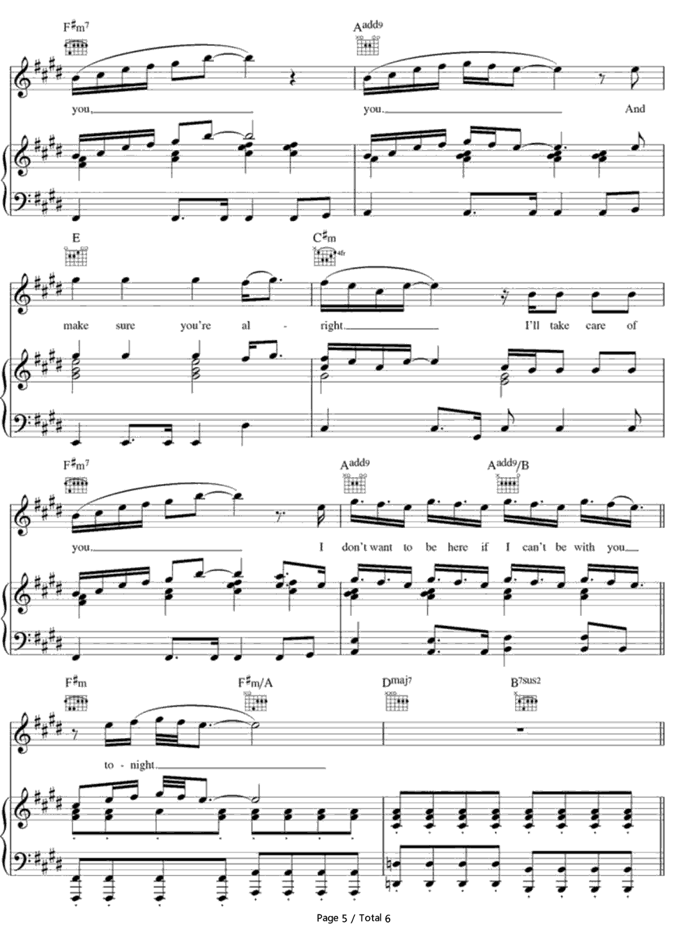 Lay Me Down-Sam Smith Stave Preview 5-Free Piano Sheet Music u0026 Piano Chords