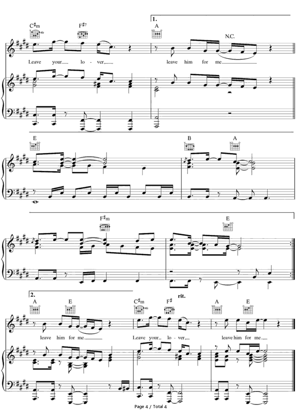how to play stay with me on piano chords