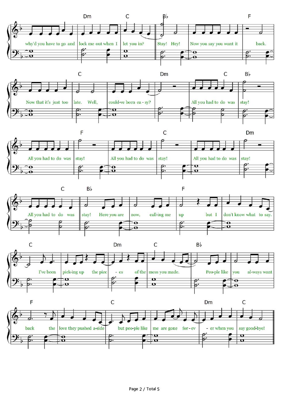 total sheet music