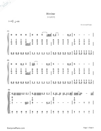 Divine-Girls Generation-Numbered-Musical-Notation-Preview-1