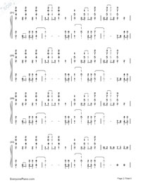 Paradise-Coldplay Numbered Musical Notation Preview 2
