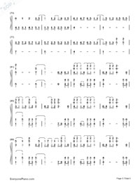 Paradise-Coldplay Numbered Musical Notation Preview 5