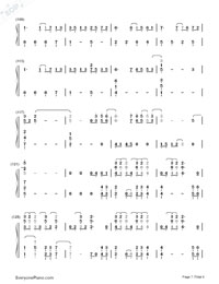Paradise-Coldplay Numbered Musical Notation Preview 7