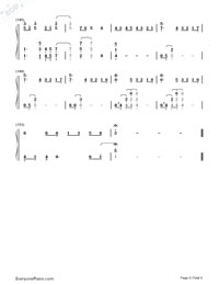 Paradise-Coldplay Numbered Musical Notation Preview 9