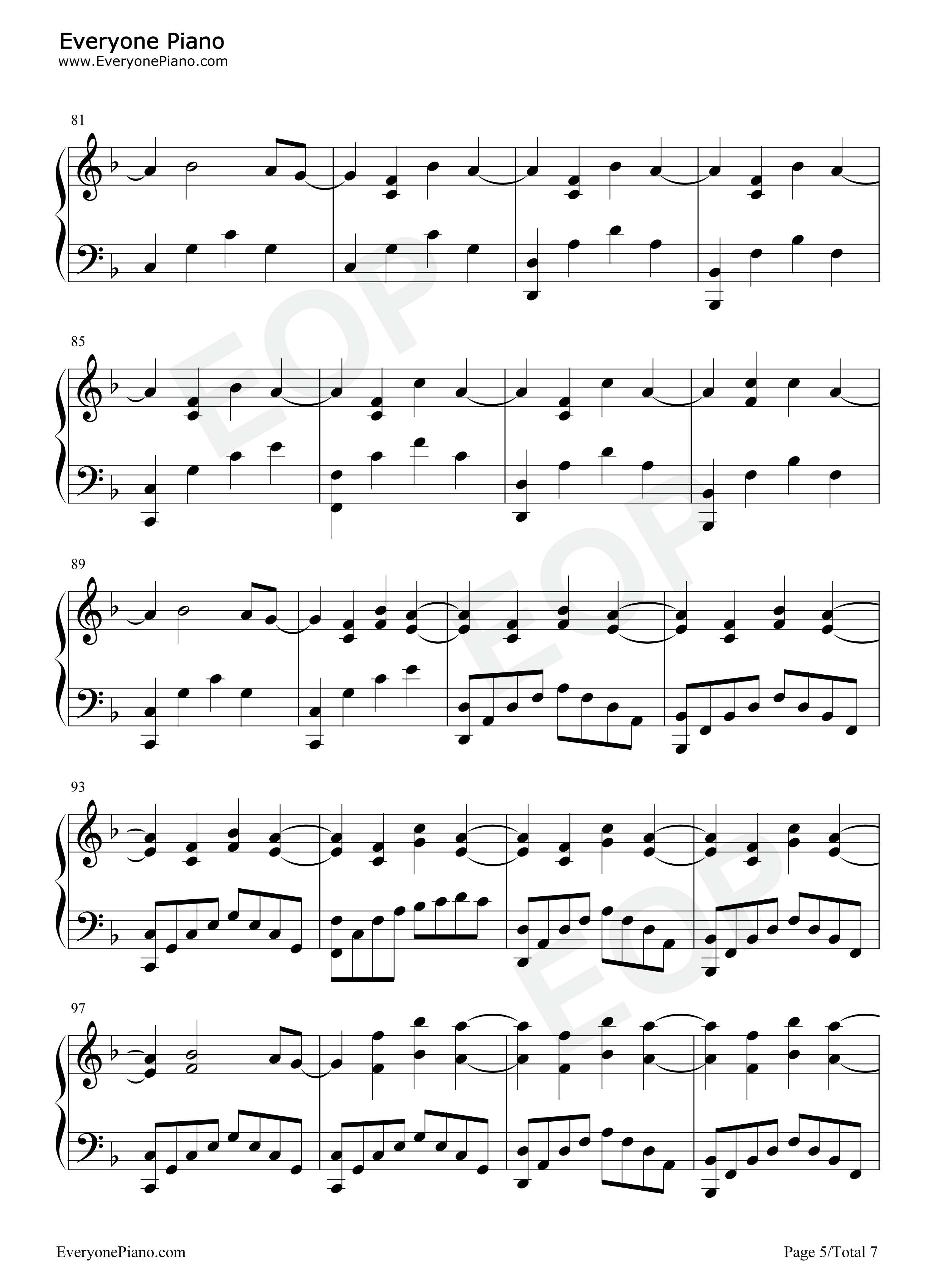Shattered-Trading Yesterday Stave Preview 5-Free Piano Sheet Music u0026 Piano Chords
