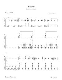 Kusari no Shoujo-Hatsune Miku-Numbered-Musical-Notation-Preview-1