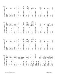 Kusari no Shoujo-Hatsune Miku-Numbered-Musical-Notation-Preview-2