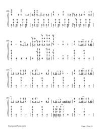 Kusari no Shoujo-Hatsune Miku-Numbered-Musical-Notation-Preview-3