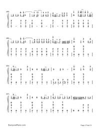 Kusari no Shoujo-Hatsune Miku-Numbered-Musical-Notation-Preview-4