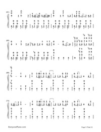 Kusari no Shoujo-Hatsune Miku-Numbered-Musical-Notation-Preview-5