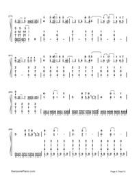 Kusari no Shoujo-Hatsune Miku-Numbered-Musical-Notation-Preview-6