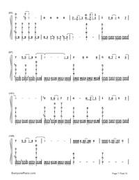 Kusari no Shoujo-Hatsune Miku-Numbered-Musical-Notation-Preview-7